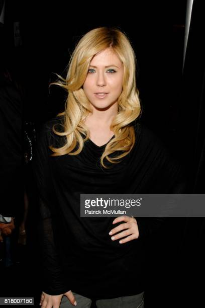 Kristine Elezaj attends Richie Rich 2011 Fashion Show at The Studio at Lincoln Center on September 9 2010 in New York City