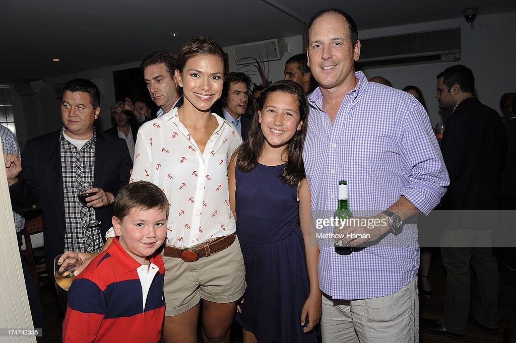 Kristine Johnson and family attend 'Percy Jackson: Sea Of Monsters' Hamptons Premiere afterparty at 75 Main Street on July 28, 2013 in Southampton, New York.