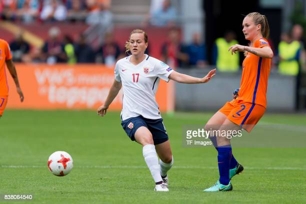 Kristine Minde of Norway and Desiree van Lunteren of the Netherlands battle for the ball during their Group A match between Netherlands and Norway...