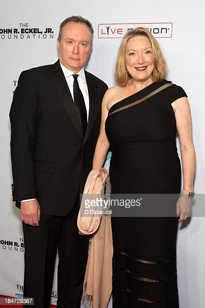 Kristine Nielsen and Brent Langdon attend the Elton John AIDS Foundation's 12th Annual An Enduring Vision Benefit at Cipriani Wall Street on October...