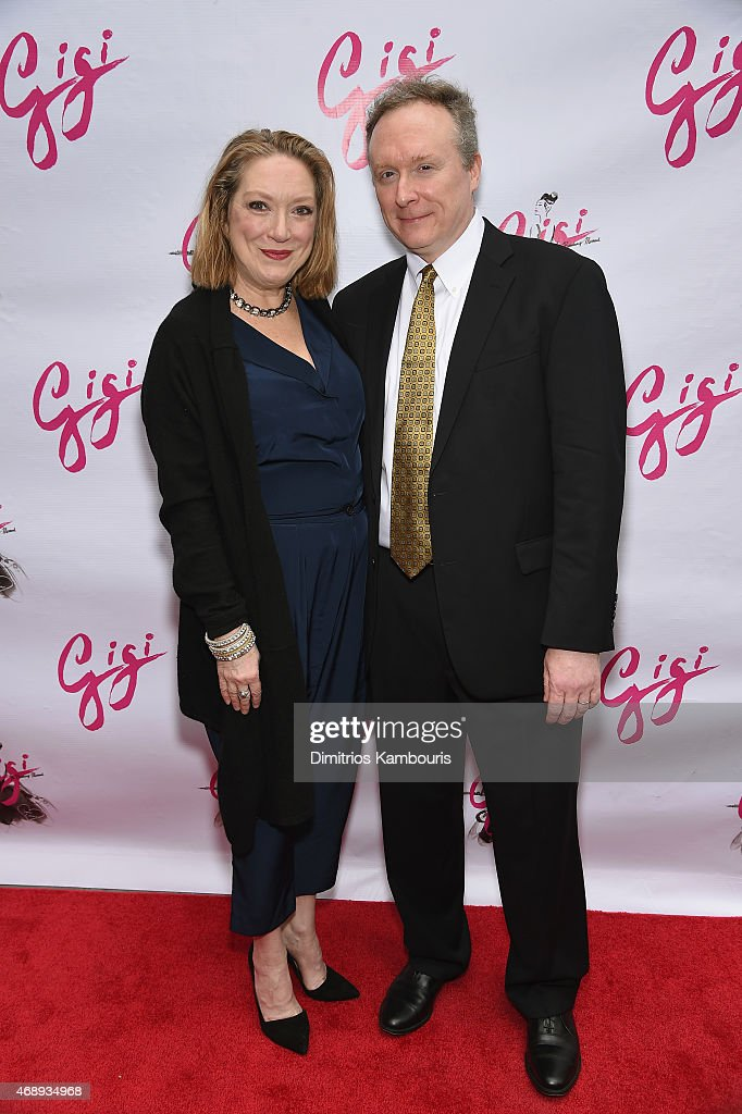 Kristine Nielsen and Brent Langdon attend the 'Gigi' Broadway Opening Night at Neil Simon Theatre on April 8 2015 in New York City