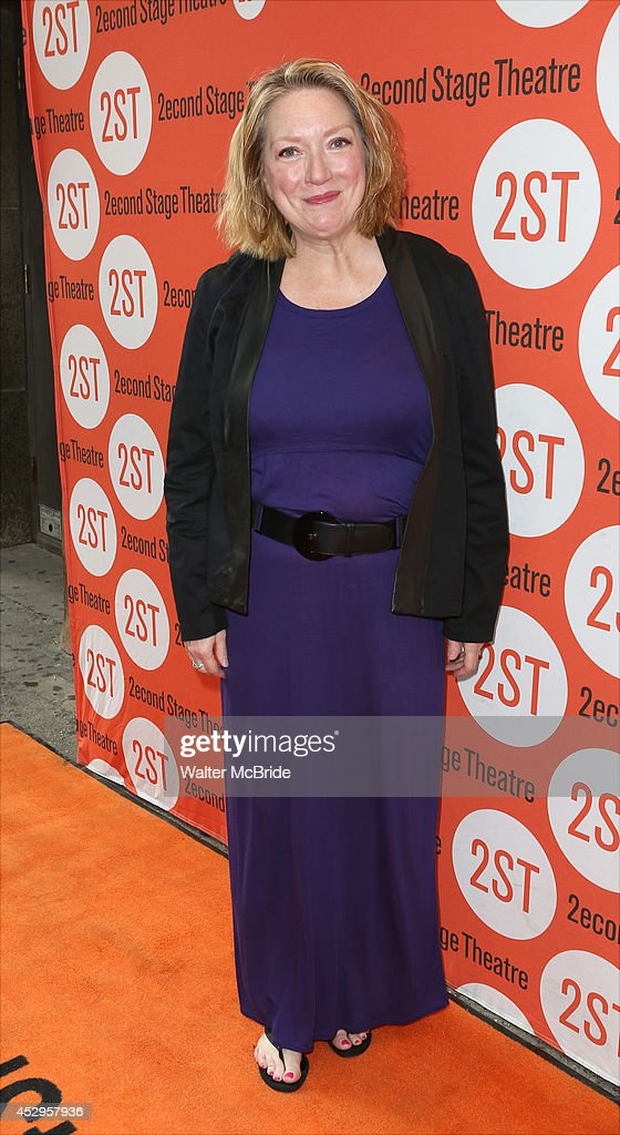 Kristine Nielsen attend the OffBroadway Opening Night of 'Sex with Strangers' at the Second Stage Theatre on July 30 2014 in New York City