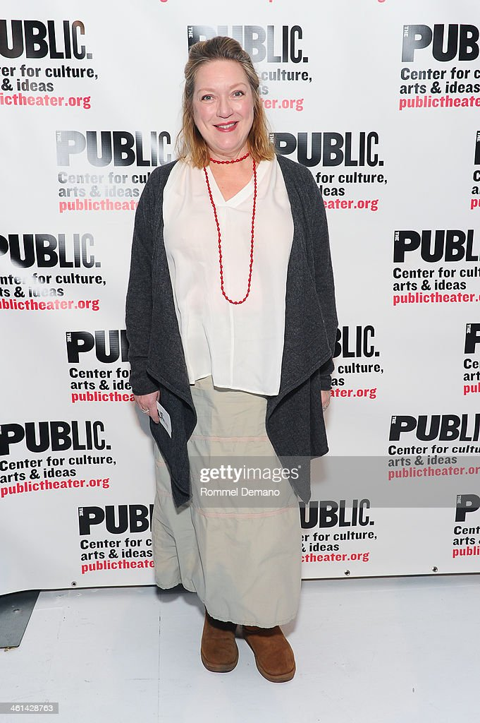 Kristine Nielsen attends Under The Radar Festival 2014 Opening Night at The Public Theater on January 8 2014 in New York City