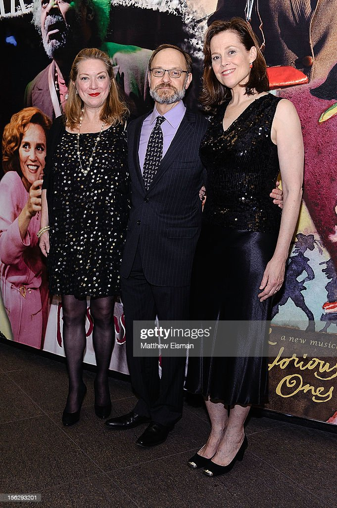 Kristine Nielsen, David Hyde Pierce and Sigourney Weaver attend the opening night of 'Vanya And Sonia And Masha And Spike' at Mitzi E. Newhouse Theater on November 12, 2012 in New York City.