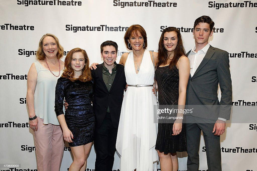Kristine Nielsen Juliet Brett Noah E Galvin Carolyn McCormick Kate Mc Gonigle and Pico Alexander attend 'What I Did Last Summer' opening night party...