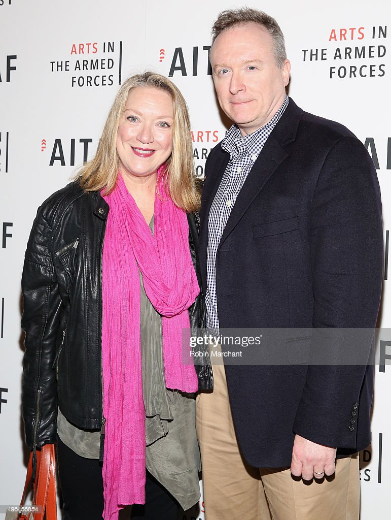 Kristine Nielson and Brent Langdon attend 'Lobby Hero' Photo Call at Studio 54 on November 9 2015 in New York City