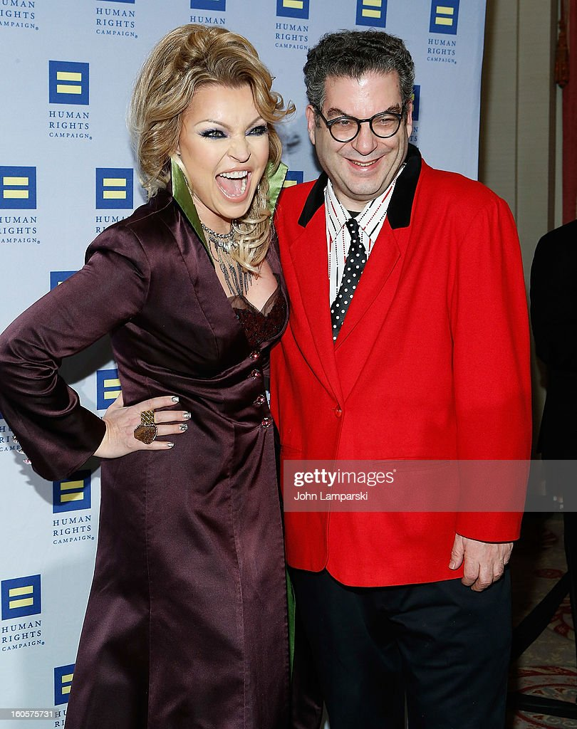 Kristine Weitz and Michael Musto attend The 2013 Greater New York Human Rights Campaign Gala at The Waldorf=Astoria on February 2, 2013 in New York City.
