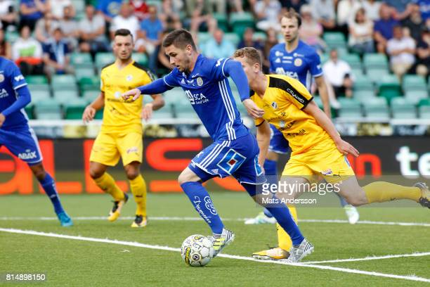 Kristinn Freyr Sigurdsson of GIF Sundsvall during the Allsvenskan match between GIF Sundsvall and Halmstad BK at Idrottsparken on July 15 2017 in...