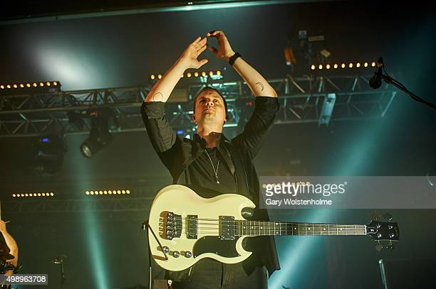 Kristjan Pall Kristjansson from Of Monsters And Men performs at O2 Academy Sheffield on November 27 2015 in Sheffield England
