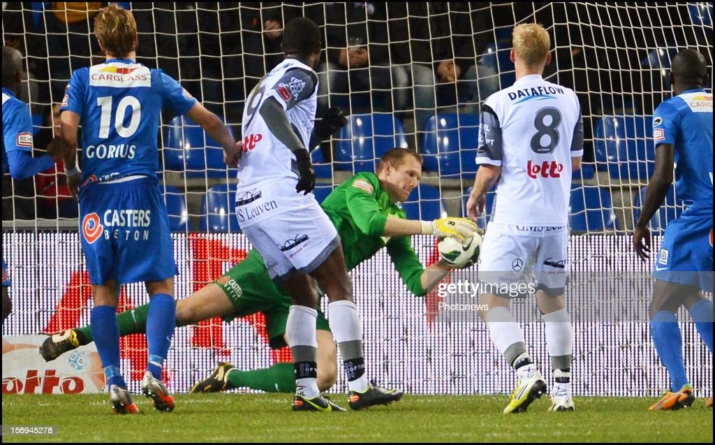 Kristof Van Hout of Genk in action during the Jupiler League match between KRC Genk and Oud Heverlee Leuven OHL on November 25, 2012 in Genk, Belgium.