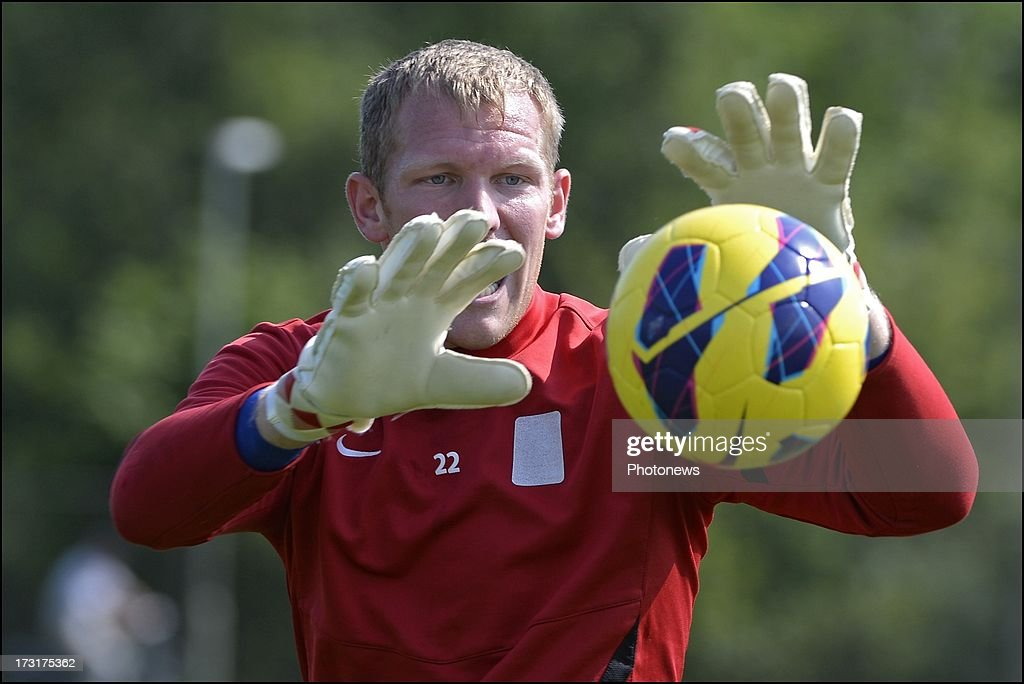 Kristof Van Hout of KRC Genk during a KRC Genk summer camp training session on July 09 , 2013 in Tegelen, Netherlands.