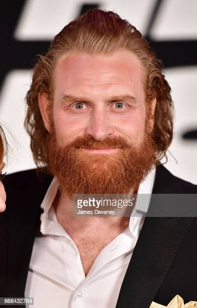 Kristofer Hivju attends 'The Fate Of The Furious' New York premiere at Radio City Music Hall on April 8 2017 in New York City