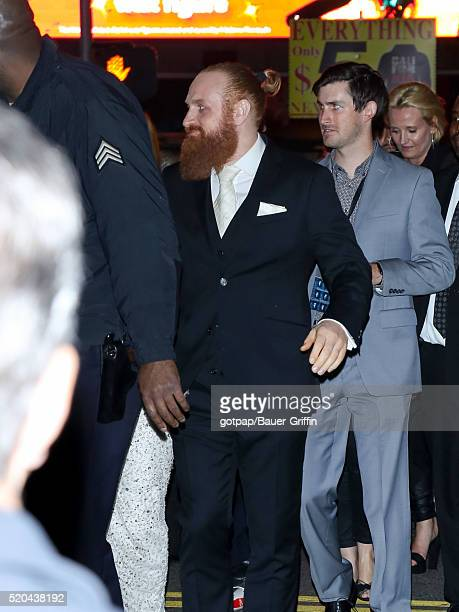 Kristofer Hivju is seen arriving at the premiere of HBO's 'Game Of Thrones' Season 6 at TCL Chinese Theatre on April 10 2016 in Los Angeles California