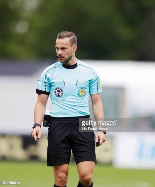 Kristoffer Karlsson referee during the Allsvenskan match between IK Sirius FK and Athletic FC Eskilstuna at Studenternas IP on July 8 2017 in Uppsala...