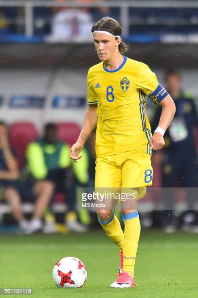 Kristoffer Olsson during the UEFA European Under21 match between Slovakia and Sweden at Arena Lublin on June 22 2017 in Lublin Poland