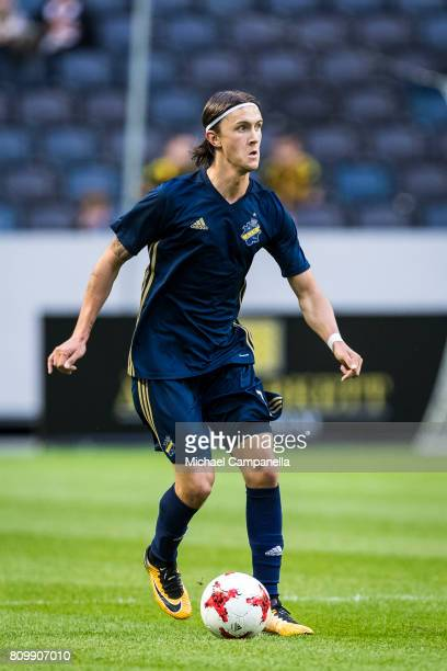 Kristoffer Olsson of AIK during a UEFA Europe League qualification match at Friends arena on July 6 2017 in Solna Sweden