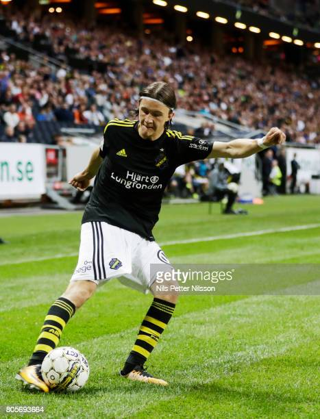 Kristoffer Olsson of AIK during the Allsvenskan match between AIK and Ostersunds FK at Friends arena on July 2 2017 in Solna Sweden