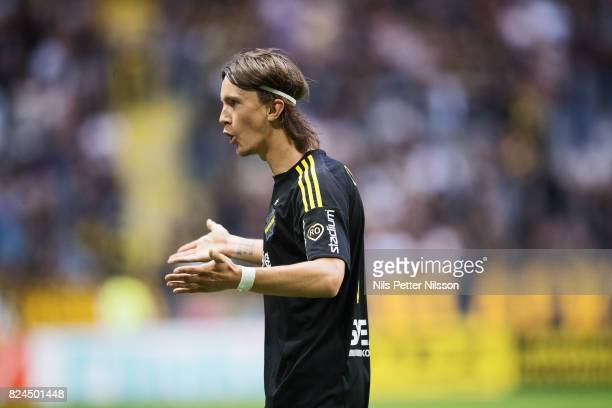 Kristoffer Olsson of AIK during the Allsvenskan match between AIK and Kalmar FF at Friends arena on July 30 2017 in Solna Sweden