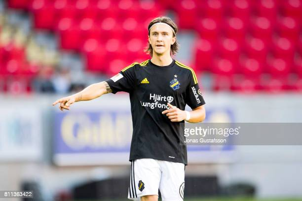 Kristoffer Olsson of AIK during the allsvenskan match between Kalmar FF and AIK at Guldfageln Arena on July 9 2017 in Kalmar Sweden