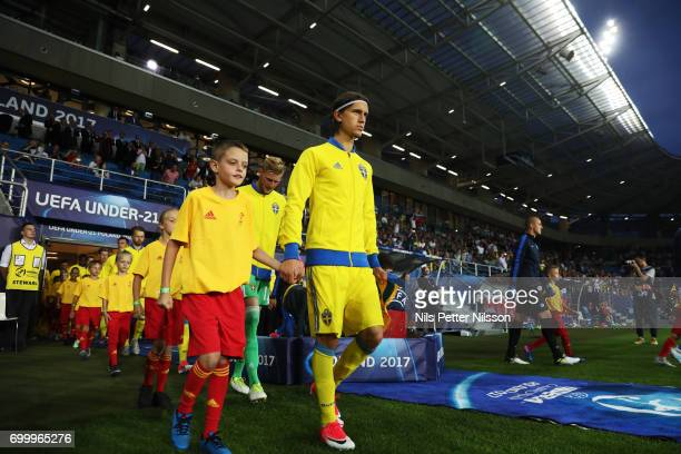 Kristoffer Olsson of Sweden ahead of the UEFA European Under21 match between Slovakia and Sweden at Arena Lublin on June 22 2017 in Lublin Poland