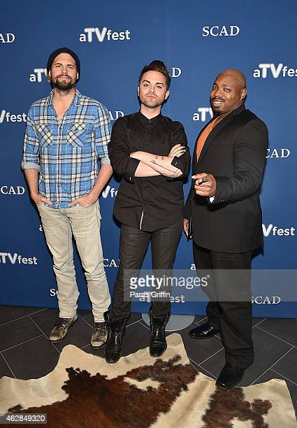 Kristoffer Polaha Thomas Dekker and Page Kennedy of 'Backstrom' attend aTVfest 2015Day 1 QA session for the screening of FOX's 'Backstrom' on...