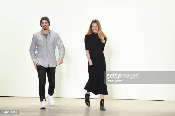 Kristopher Brock and Laura Vassar walk the runway after Brock Collection Show during New York Fashion Week Fall Winter 20172018 at Gallery 2 Skylight...