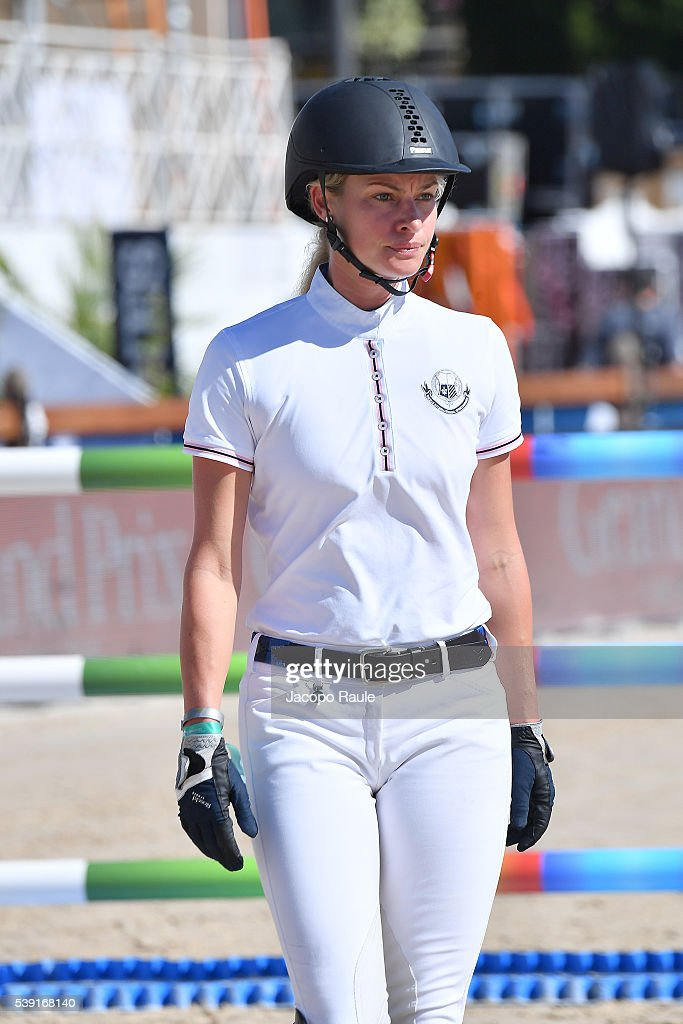 Kristy HinzeClark attends International Longines Global Champion Tour Day 2 on June 10 2016 in Cannes France