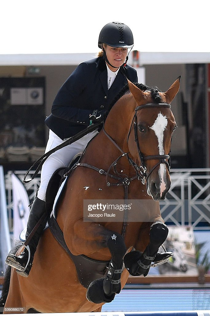 Kristy HinzeClark competes at International Longines Global Champion Tour Day 3 on June 11 2016 in Cannes France