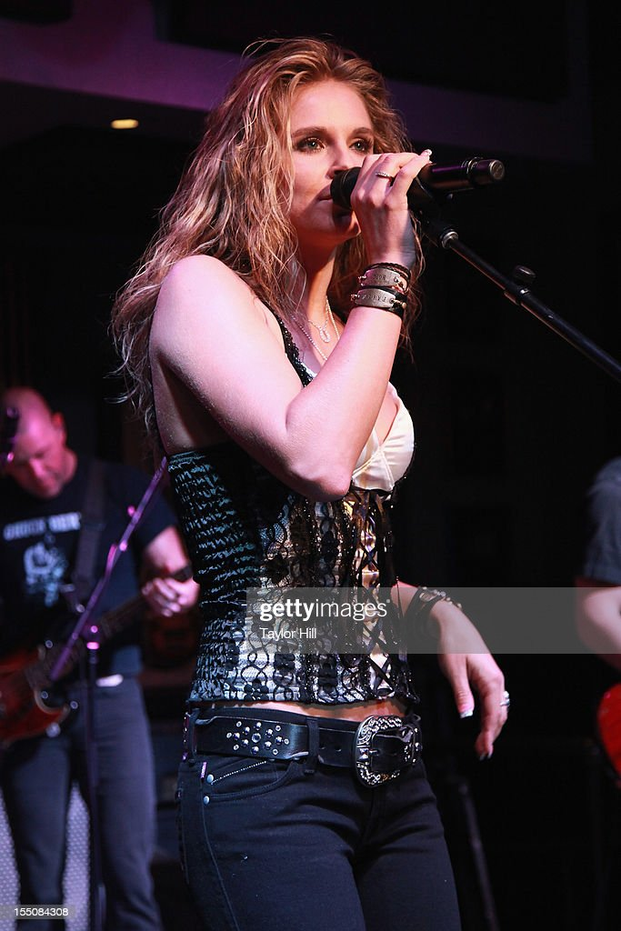 Kristy Lee Cook performs during the BBR Music Group 3rd annual Pre-CMA party at the Hard Rock Cafe Nashville on October 31, 2012 in Nashville, Tennessee.