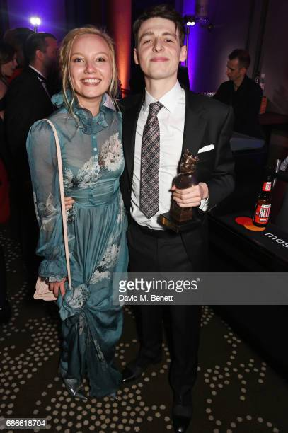 Kristy Philipps and Anthony Boyle attends The Olivier Awards 2017 after party at Rosewood London on April 9 2017 in London England