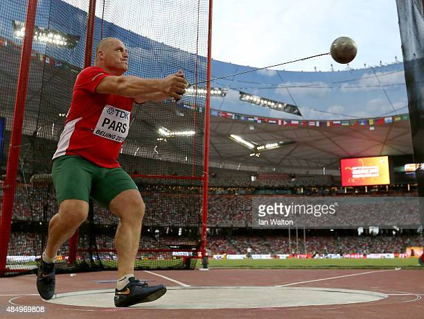 Krisztian Pars of Hungary competes in the Men's Hammer final during day two of the 15th IAAF World Athletics Championships Beijing 2015 at Beijing...