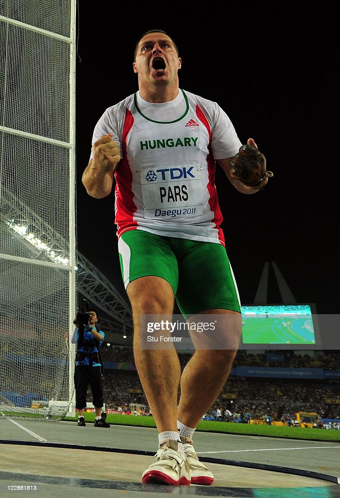 Krisztian Pars of Hungary reacts in the Men's Hammer Final during day three of 13th IAAF World Athletics Championships at the Daegu Stadium on August 29, 2011 in Daegu, South Korea.