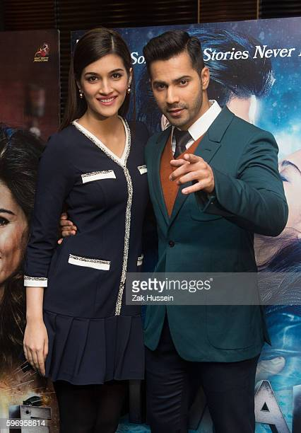 Kriti Sanon and Varun Dhawan attending the photocall for 'Dilwale' in London