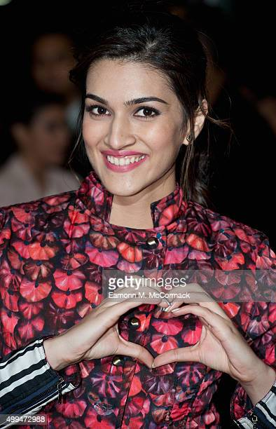 Kriti Sanon attends Photocall for Bollywood film 'Dilwale' at Cineworld Feltham on December 1 2015 in Feltham England