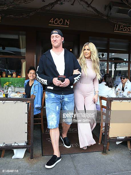 Kroy Biermann and Kim Zolciak are seen on October 15 2016 in Los Angeles California