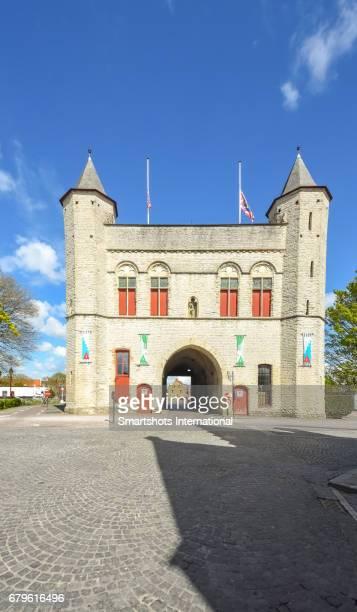 Kruispoort gate in Bruges, Flanders, Belgium, a UNESCO heritage site