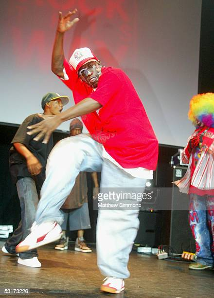 Krump dancers from the documentary 'Rize' perform with Tommy The Clown at the launch party for the 'Rock This Way Tour' hosted by Kimberly Caldwell...