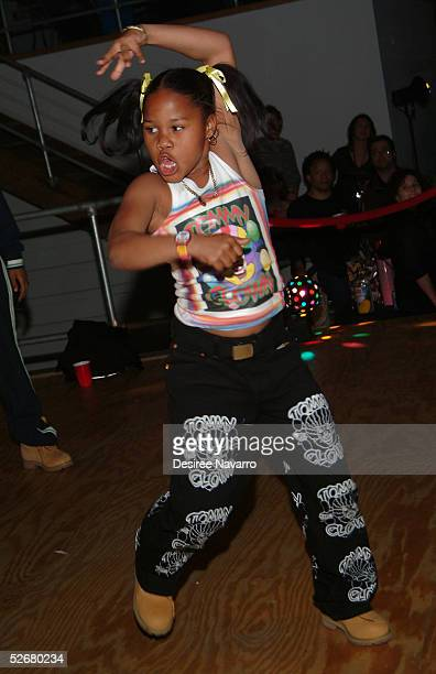 Krumping dancer Little Mama shows his dance skills at the after party for 'Rize' during the Tribeca Film Festival at the Deitch Projects April 21...