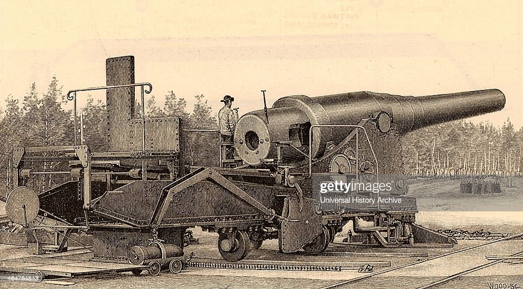 Krupp 71 ton gun of 1881 Krupp of Essen was the great German armaments manufacturer in the late 19th century From 'Harper's New Monthly Magazine'...