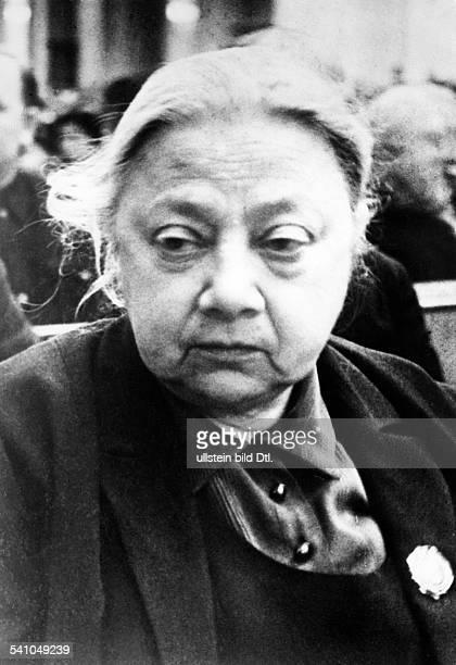 Krupskaja Nadeschda K *26021869Politikerin UdSSREhefrau Lenins Aufnahme aus spaeteren Jahren