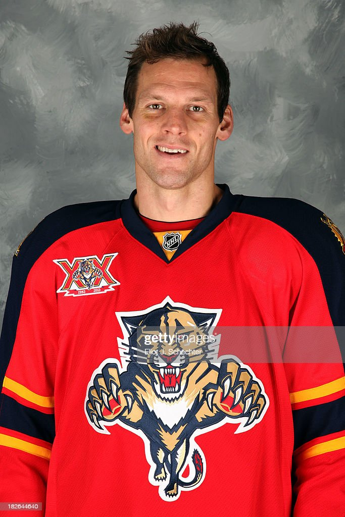 <a gi-track='captionPersonalityLinkClicked' href=/galleries/search?phrase=Krys+Barch&family=editorial&specificpeople=2538220 ng-click='$event.stopPropagation()'>Krys Barch</a> of the Florida Panthers poses for his official headshot for the 2013-2014 NHL season on October 1, 2013 in Sunrise, Florida.