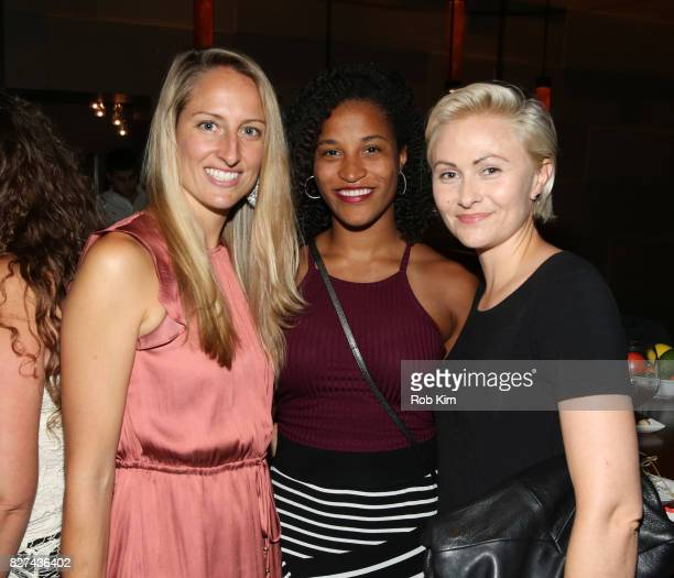 Krysta Hibbard and guests attend the OffBroadway opening night party for 'SUMMER SHORTS 2017' at Fogo de Chao Churrascaria on August 7 2017 in New...