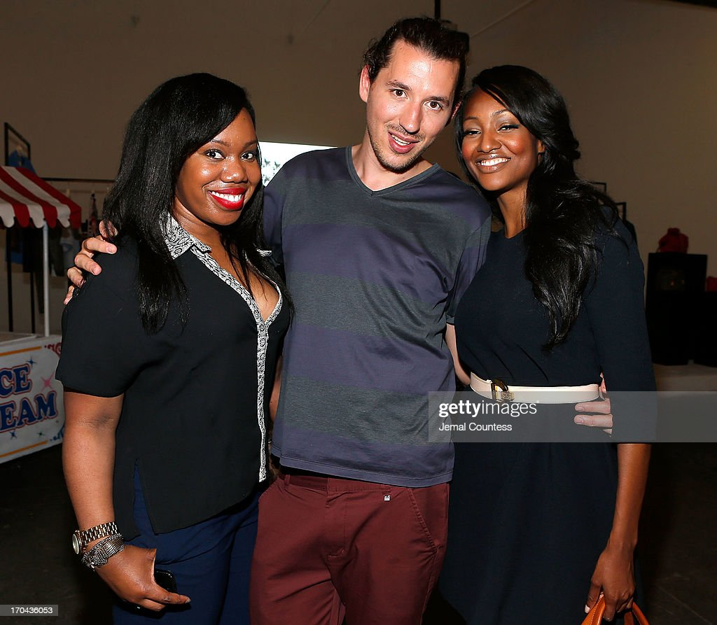 Krystal Florence, Arnaud Daudhois and actress Nichole Galicia attend the SeeByChloe Spring 2014 collection and premiere fragrance celebration at Industria Superstudio on June 12, 2013 in New York City.