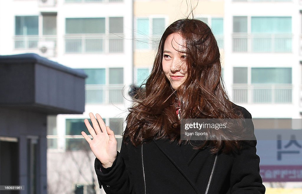 Krystal of f(x) poses during Hanlim Multi Art School Graduation on February 7, 2013 in Seoul, South Korea.