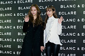 Krystal of girl group f and former member of Girl's Generation Jessica attend the BLANC ECLARE x KOON launch Party at Shinsa KOON Store on November 2...