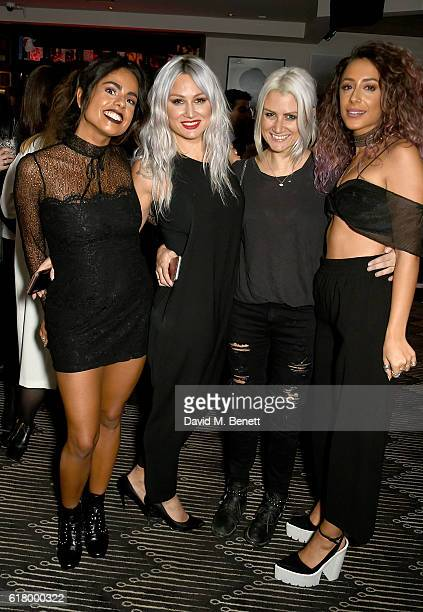 Krystal Rodriguez Lou Teasdale Sam Teasdale and Aimee Kritikos attend as Lottie Tomlinson hosts a party to launch her collection Nails Inc X Lips Inc...