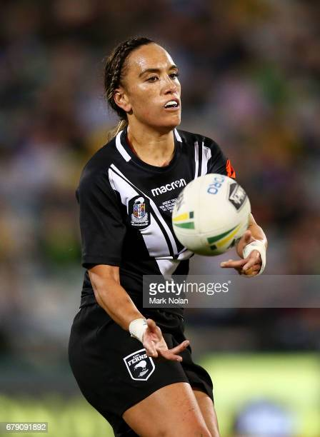 Krystal Rota of the Kiwi Ferns in action during the women's ANZAC Test match between the Australian Jillaroos and the New Zealand Kiwi Ferns at GIO...