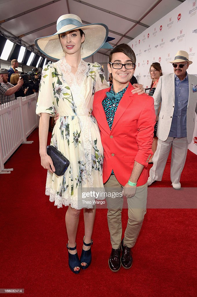 <a gi-track='captionPersonalityLinkClicked' href=/galleries/search?phrase=Krysten+Ritter&family=editorial&specificpeople=655673 ng-click='$event.stopPropagation()'>Krysten Ritter</a> and Christian Siriano at the GREY GOOSE Red Carpet Lounge at the Kentucky Derby at Churchill Downs on May 4, 2013 in Louisville, Kentucky.