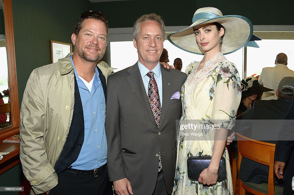 <a gi-track='captionPersonalityLinkClicked' href=/galleries/search?phrase=Krysten+Ritter&family=editorial&specificpeople=655673 ng-click='$event.stopPropagation()'>Krysten Ritter</a> (R) and guests at the GREY GOOSE Red Carpet Lounge at the Kentucky Derby at Churchill Downs on May 4, 2013 in Louisville, Kentucky.