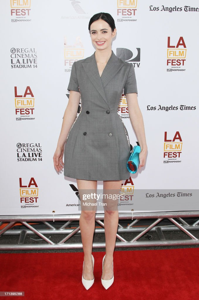 <a gi-track='captionPersonalityLinkClicked' href=/galleries/search?phrase=Krysten+Ritter&family=editorial&specificpeople=655673 ng-click='$event.stopPropagation()'>Krysten Ritter</a> arrives at the 2013 Los Angeles Film Festival 'The Way, Way Back' closing night gala held at Regal Cinemas L.A. LIVE Stadium 14 on June 23, 2013 in Los Angeles, California.